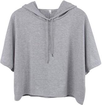 Starstreecom Womens Plain Crop Top Hoodies Short Sleeve Cropped Hooded Hoody Sweatshirt Plain Jumper Heavy Sweat Pullover Tops (Tag S(UK 6-8)