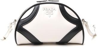 Prada Zipped Logo Bowling Bag