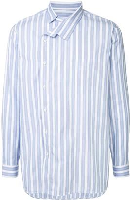 Jil Sander off-center stripe shirt