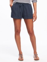 "Old Navy Soft Linen-Blend Shorts for Women (3 1/2"")"