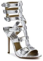 Michael Kors Ming Metallic Snakeskin Gladiator Sandals