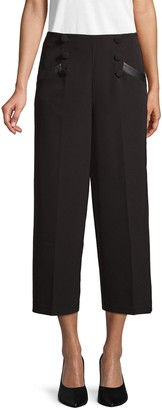 Laundry by Shelli Segal Wide-Leg Cropped Trousers
