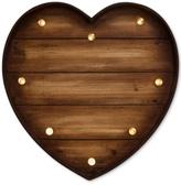 Graham & Brown Lit Wooden Heart Metal Art
