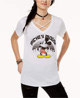 Freeze 24-7 Juniors' Disney Mickey Mouse City Crisscross Graphic T-Shirt