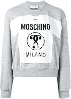 Moschino Milano patch sweatshirt - women - Polyester/Viscose - 38