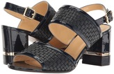 a. testoni Nappa and Patent Leather Strap Heel Women's Shoes