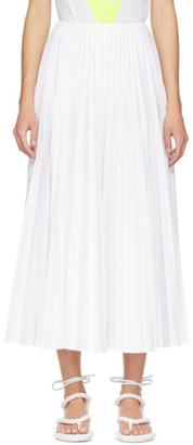 Valentino White Pleated Skirt