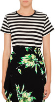Proenza Schouler Stripe Bow Back T-Shirt