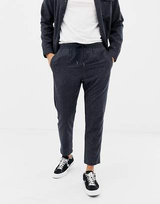 Another Influence Fleck Formal Slim fit Joggers-Navy