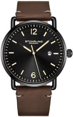 Stuhrling Original Men's Metro Black Dial Watch