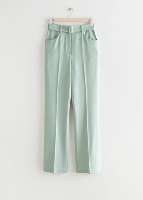 And other stories Tailored Belted High Waist Trousers