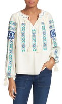 Sea Women's Embroidered Peasant Blouse
