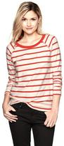 Gap Reverse terry striped sweatshirt