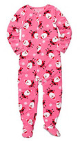Carter's Girls' 4-7 Pink Santa Print Footed Pajamas