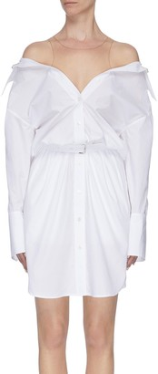 Alexander Wang x Lane Crawford belted off-shoulder shirt dress