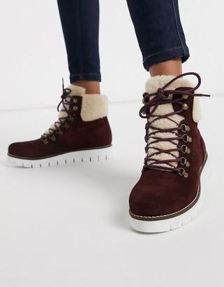 Vero Moda leather hiking boots