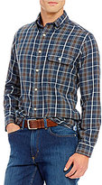 Daniel Cremieux Long-Sleeve Elbow-Patch Plaid Flannel Woven Shirt