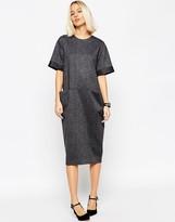 Asos Tailored Midi Dress with Pocket Detail