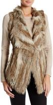 Bagatelle Genuine Rabbit & Genuine Coyote Fur Vest