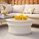 west elm Sculpted Drum Coffee Table