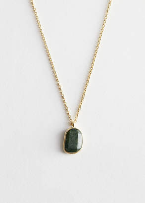 And other stories Stone Pendant Sterling Silver Chain Necklace