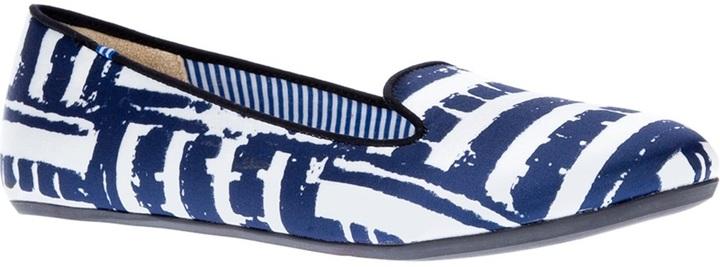 Charles Philip brick print slipper
