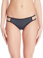 Oakley Women's Double Spaced Reversible Side Cut Out Retro Bikini Bottom