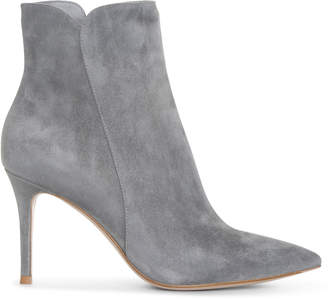 Gianvito Rossi Levy grey suede ankle boots