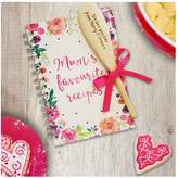 Very Personalised Mums Fave Recipe Book With Wooden Spoon