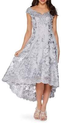 Quiz Floral Embroidered Gown