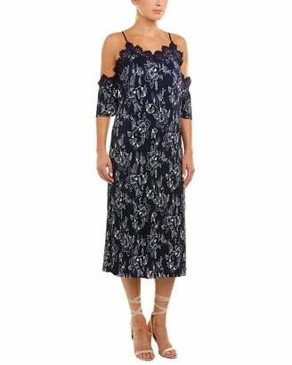 Moon River Women's Lace Detail Printed Maxi Dress