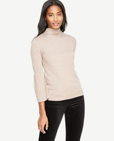 Ann Taylor Fluted Extrafine Merino Wool Sweater