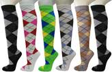 Julietta Ladies Cute Colorful Design Knee High Socks Assorted 6-Pack (0, )