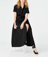 J. Jill J.Jill Women's Casual Dresses BLACK - Black Belted Maxi Shirt Dress - Women & Petite