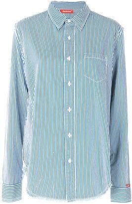 Denimist Striped Raw-Cut Denim Shirt