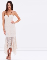 Shona Joy Lace Bustier Handkerchief Midi Dress