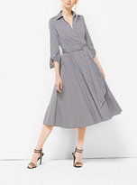 Michael Kors Gingham Cotton-Poplin Wrap Dress