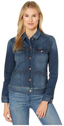 Liverpool Denim Jacket in Silky Soft Denim (Sanders) Women's Clothing