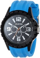 Unlisted Watches Men's UL1243 City Streets Round Case Dial Blue Details and Strap Watch