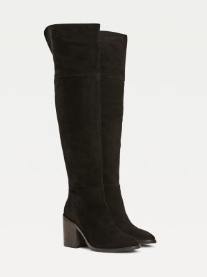 Tommy Hilfiger TH Modern Suede Over Knee Boots