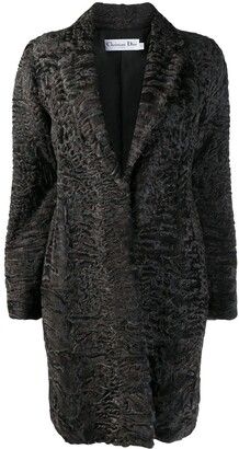 Christian Dior Pre-Owned Textured Midi Coat