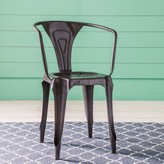 Graham and Green Isaac Iron Armchair In Gunmetal