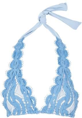 Pilyq Sky Blue Halterneck Lace Bikini Top