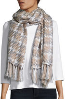 Calvin Klein Fringed Woven Blanket Scarf