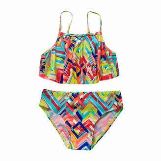 Shorts Baby Bottoms Seaside Pool Swimsuit Bathing Suit 5-14 Years Old waitFOR Children Kids Beach Swimsuit,Girls Solid Colour Ruffle Sling Swimming Vest