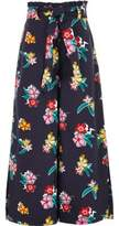 River Island Girls blue paperbag waist wide leg pants
