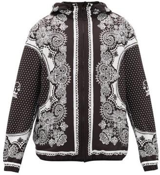 Dolce & Gabbana Bandana-print Mesh-lined Windbreaker Jacket - Mens - Black White