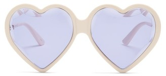 Gucci Heart Acetate Sunglasses - Womens - Purple Multi