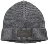 True Religion Men's Ribbed Knit Watchcap with Patch