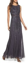 Adrianna Papell Women's Beaded Sleeveless Gown